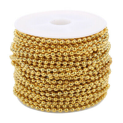 10 Yards Ball Bead Chain Stainless Steel Jewelry Necklace Making Crafting