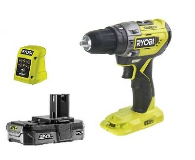 RYOBI ONE+ CORDLESS 18V PERCUSSION HAMMER DRILL R18PD5 with 2Ah battery !