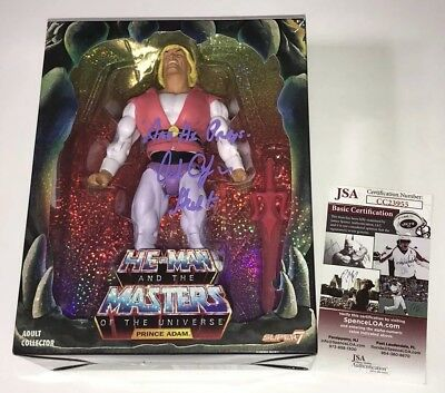 ALAN OPPENHEIMER Signed SUPER 7 Laughing Prince Adam MASTERS OF UNIVERSE Figure