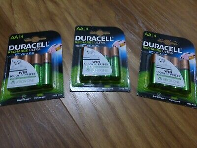12  Duracell Recharge Ultra AA HR6 Rechargeable Batteries 2500mAh