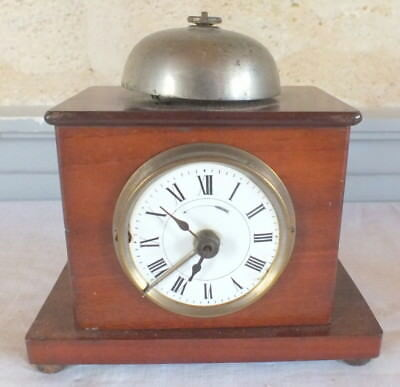 alarm clock pendulum table mahogany clock
