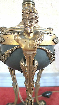 lamp athenian satyrs imps style Restauration Charles X bronze