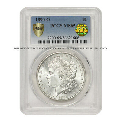 1890-O $1 Silver Morgan PCGS MS65 PQ Approved New Orleans Mint Gem Graded Coin