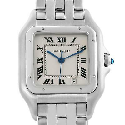 Cartier Panthere Large Steel Unisex Watch W25054P5 Box Papers