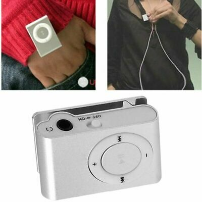 NEW Hot Sale Mini Clip MP3 player 8 Candy Colors Mirror Portable MP3 Player Wate