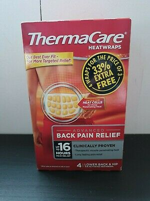 Thermacare Heat Wraps box of 4 - Great price Brand New Sealed - Damaged Box LOW