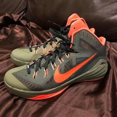 timeless design bbe63 e2809 NIKE HYPERDUNK 2014 Dark Green Orange Mens  Size 11 Preowned Clean Shoes No  Box