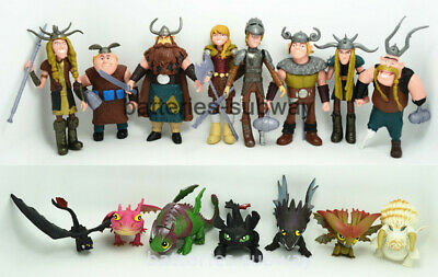 15 pcs Hiccup Night Fury Toothless How to Train Your Dragon Action Figures Toy