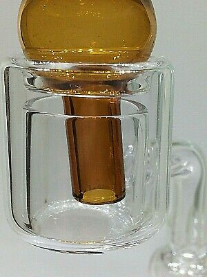 100% Quartz Thermal Glass Banger 14mm Male and Optional Carb Cap - US Seller