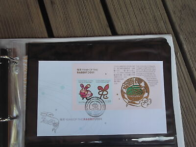 2011 Christmas Island Year Of The Rabbit Mini Sheet First Day Cover