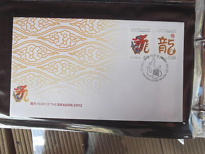 2012 Christmas Island Year Of The Dragon  Luna New Year First Day Cover