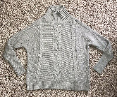 0dee1dc5ba72c H M OVERSIZED CHUNKY Cable Knit Off-White Boyfriend Sweater - Size M ...
