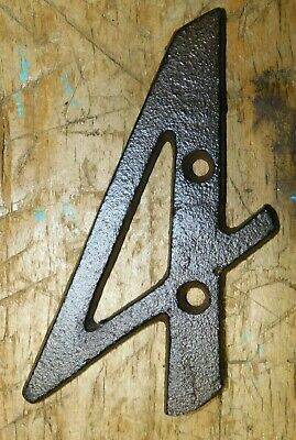 Rustic BROWN Cast Iron Metal House Numbers Street Address 4 INCH Phone #'s 4