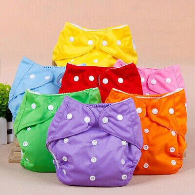 LOT Soft Cover Washable Size Adjustable Reusable Baby Infant Nappy Cloth Diaper