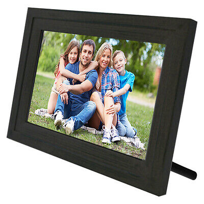 "Life Made Digital Touch-Screen 10"" Picture Frame with Wi-Fi -Dark Wood"