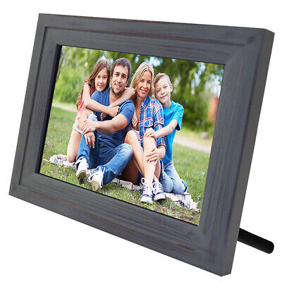 "Life Made Digital Touch-Screen 10"" Picture Frame with Wi-Fi -Vintage Wood"