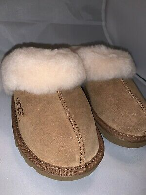 2911e6c9fa8 New UGG Kids Girls Boys Cozy Chestnut Suede Sheepskin Slip On Indoor  Slippers