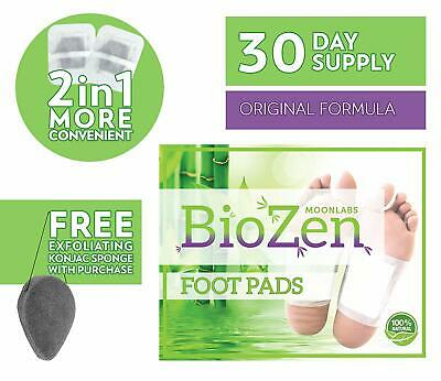 Biozen 30 Day Supple Foot Pads Pain Relief Relieve Stress Remove Toxins