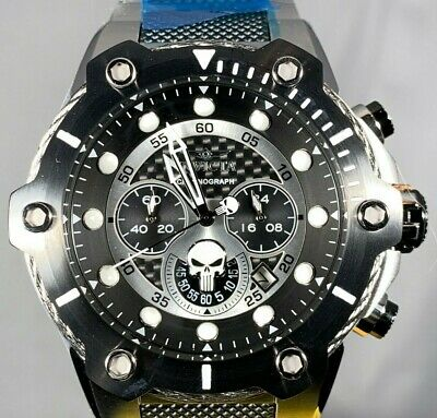 Invicta Marvel Punisher 50mm Bolt LE Chronograph Stainless Steel Bracelet Watch