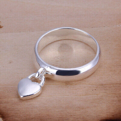 Promotion Price 925Sterling Silver Lovely Heart Woman Ring Size 6 7 8 R133