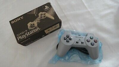Official SONY PlayStation 1 Grey Controller PS1 Boxed SCPH-1010