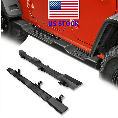 OE Factory Style Side Step Running Board Nerf Bar for 2007+ JK Jeep Wrangler 4DR