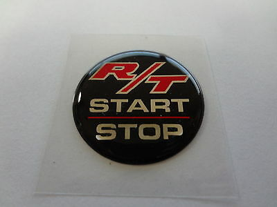 Challenger Keyless Go Starter Push Start Button Emblem Decal R/T Start Stop Blk