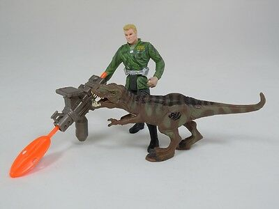 Jurassic Park III Military General with T-Rex Tyrannosaurus Complete Figure