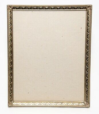 Vintage Metal Ornate Gold  Brass Plated Metal Picture Frame 8 x 10 Wall Hanging