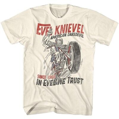 OFFICIAL Evel Knievel Jump Daredevil Men's T-Shirt Stunt Rider Motorcycle Biker