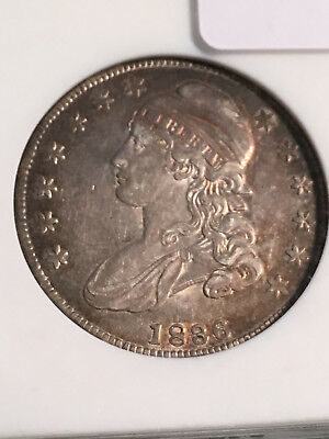 1836 Capped Bust Half, O-105, R.4, AU50 ANACS, Lovely Toning-From VDB Coins