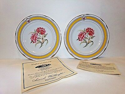 2-Vintage White House Ulysses S Grant Woodmere Dessert China Plates (8 inches)