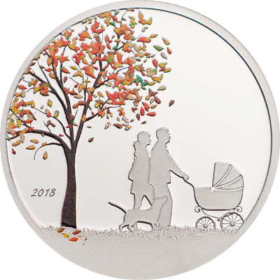 Cook Islands 2018 $1 Indian Summer Globe 1/10oz Prooflike Silver Coin