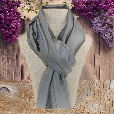 b52a4aeee Ladies Silk wedding pashmina silk scarf silk special occasion scarf in grey