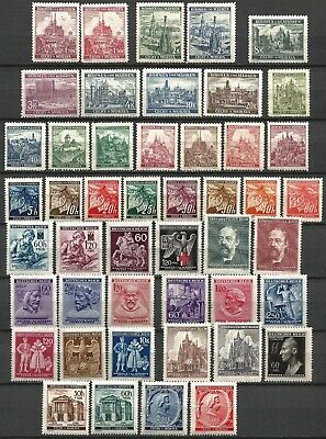 Germany Occupation Bohemia Moravia 1939/44 Mint Selection Sets Part Sets Singles