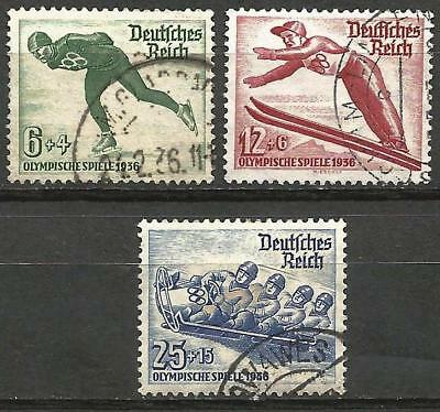Germany (Third Reich) 1935 Used - Winter Olympic Games 1936 Skiing Ski Jump, Bob