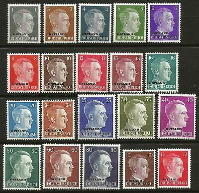 Germany Third Reich Ostland 1941/1943 MNH/MH Hitler Definitives Complete Set 20v