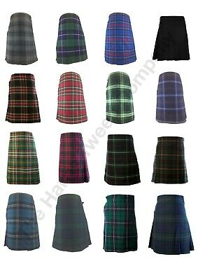 Original and Traditional Scottish Full Mens Kilts Tartan Pattern New Design