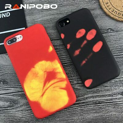 Fashional Thermal Sensor Case for iphone 8 XS XR Xmax Plus Heat Induction Phone