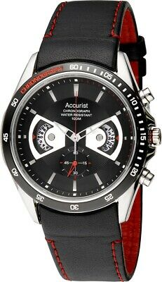 Accurist Men's Black Dial Chronograph Watch MS645 RRP £150