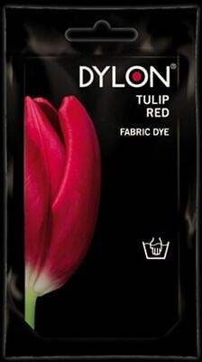 Dylon Fabric Dye Hand Use 50g Pack Clothes - Tulip Red ** CLEARANCE PRICE **