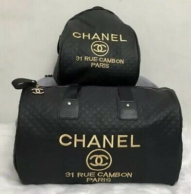 9544768ec21b03 Coco 31 Rue Cambon VIP Gift Precision Duffel Bag With Matching Backpack  Quilted