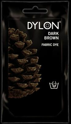 Dylon Fabric Dye Hand Use 50g Pack Clothes - Dark Brown ** CLEARANCE PRICE **