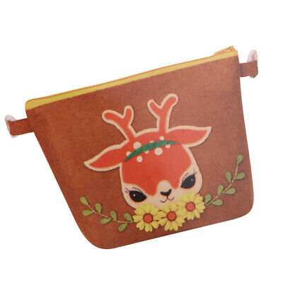 Sika Deer Coin Purse Wallet Felt Applique Kits For Kids DIY Home Ornaments
