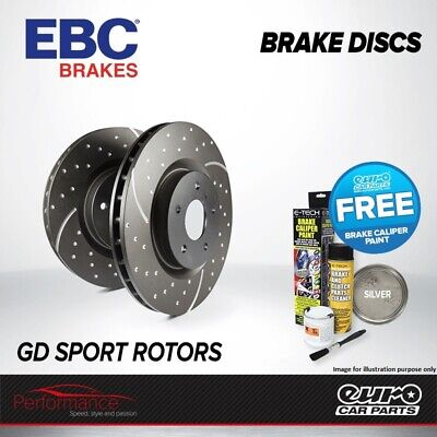 EBC GD Rear Performance Brake Discs x2 Pair 310mm Vented Grooved Dimpled GD1458