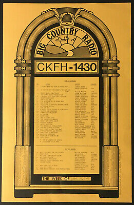 1976 Big Country Radio Station CKFH Survey Chart Music Toronto Willie Nelson