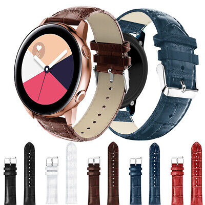 Replacement Leather Strap Bracelet Watch Band for Samsung Galaxy Watch Active