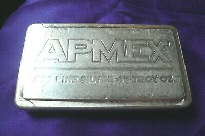 APMEX 10 oz Machined Stacker Stackable .999 Silver Bar (129)