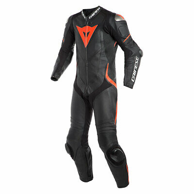 Dainese Laguna Seca 4 One Piece Perf Leather Suit Black / Black / Fluo Red - 56
