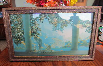 """Maxfield Parrish """"Daybreak"""" in original frame The House of Art NY 1920's"""